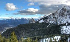 De alpen in de winter (mening van de breitenberg-Berg). Royalty-vrije Stock Fotografie