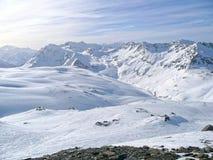 De Alpen in Frankrijk Stock Afbeeldingen