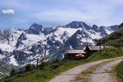 De alpen Oetztal aan de Italiaanse kant Stock Foto