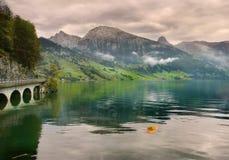 De Alpen van de lente, Zwitserland Royalty-vrije Stock Afbeeldingen