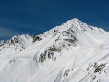 De Alpen van de winter Stock Foto's