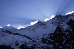 De Alpen van de winter Stock Afbeelding