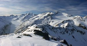De Alpen van de winter - Witte kogel. Stock Afbeelding