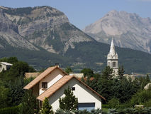 De alpen van Frankrijk haute alpes Royalty-vrije Stock Afbeelding