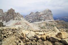 De alpen van het dolomiet stock afbeeldingen