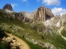 De Alpen van het dolomiet, Italië Stock Afbeeldingen