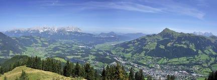 De Alpen van Kitzbuhel Stock Afbeelding