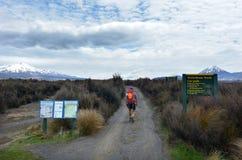 De Alpiene Kruising van Tongariro stock afbeeldingen