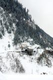 De Alpiene Scène van de winter, Italië Stock Afbeelding