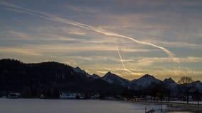 De alpiene tijdspanne van de zonsondergangtijd stock video