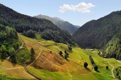 De alpiene vallei Oetztal in de zomer Tirol, Oostenrijk Stock Foto