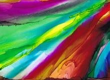 De alta calidad Pintura abstracta moderna de la tinta del alcohol, arte contemporáneo de los detalles fotos de archivo libres de regalías