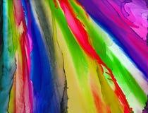 De alta calidad Pintura abstracta moderna de la tinta del alcohol, arte contemporáneo de los detalles foto de archivo