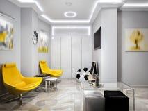 ` De alta tecnología s Pl de los niños de la sala de espera de la recepción del minimalismo moderno Fotos de archivo