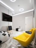 ` De alta tecnología s Pl de los niños de la sala de espera de la recepción del minimalismo moderno Imagen de archivo