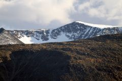 De Altai glaciärerna royaltyfria bilder