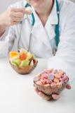 De alternatieve aanbieding van de arts stock afbeelding