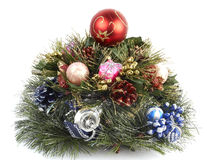 De altijdgroene boom van Kerstmis Stock Fotografie
