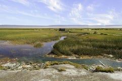 De Alvord Hete Lentes, Harney-Provincie, Zuidoostelijk Oregon, Westelijke Verenigde Staten stock fotografie