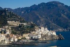 De Amalfi Kust stock foto