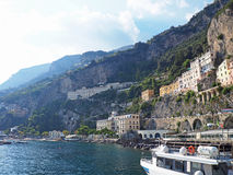 De Amalfi Kust Stock Fotografie