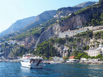 De Amalfi Kust Royalty-vrije Stock Foto's