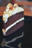 De Amandel van de chocoladecake royalty-vrije stock afbeelding