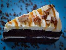 De Amandel van de chocoladecake Stock Afbeelding