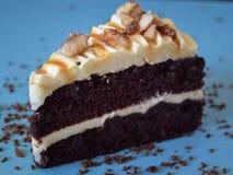 De Amandel van de chocoladecake Royalty-vrije Stock Foto