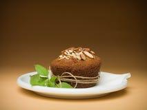 De amandelen van Cupcake Stock Fotografie