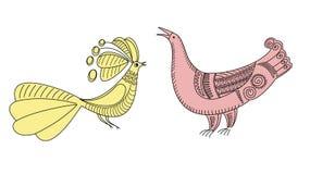 De ambachtvogels van de tekening Royalty-vrije Stock Afbeelding