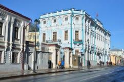 De Ambassade van de Republiek Wit-Rusland in Moskou Landgoed van rumyantsev-Zadunaisky royalty-vrije stock foto's
