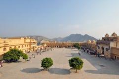 De amber Binnenplaats van het Fort royalty-vrije stock afbeeldingen