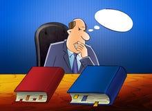 De ambtenaar denkt na stock illustratie