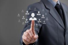 Personeel en CRM Stock Afbeeldingen