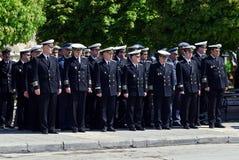 De ambtenaren van de marine Stock Foto