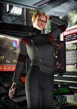 De ambtenarenmeisje van het ruimteschip stock illustratie