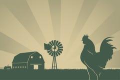 De Amerikaanse Achtergrond van de Landbouw Stock Fotografie