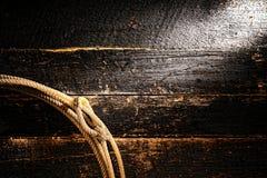 De Amerikaanse Achtergrond van de Lasso van de Lasso van de Cowboy van de Rodeo van het Westen Stock Fotografie