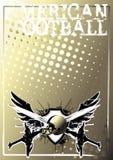 De Amerikaanse achtergrond van de voetbal gouden affiche Stock Foto