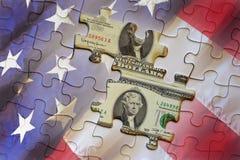 De Amerikaanse achtergrond van het geldraadsel Royalty-vrije Stock Afbeelding