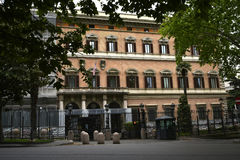 De Amerikaanse Ambassade in Rome Italië Stock Foto's
