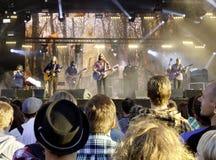 De Amerikaanse Band Midlake voert levend op stadium uit Stock Foto's