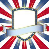 De Amerikaanse Banner van het Schild van Kleuren Royalty-vrije Illustratie
