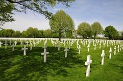 De Amerikaanse Begraafplaats Margraten van Nederland Stock Foto's