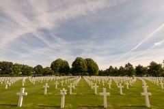 De Amerikaanse Begraafplaats Margraten van Nederland Royalty-vrije Stock Afbeelding