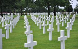De Amerikaanse Begraafplaats van Normandië Stock Fotografie