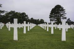 De Amerikaanse Begraafplaats van de Oorlog in Normandië stock foto's