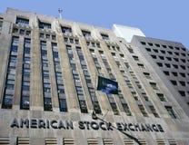 De Amerikaanse Bouw van de Beurs Royalty-vrije Stock Afbeeldingen