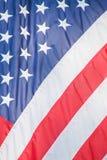 De Amerikaanse Close-up van sterren en van Strepen Stock Afbeelding